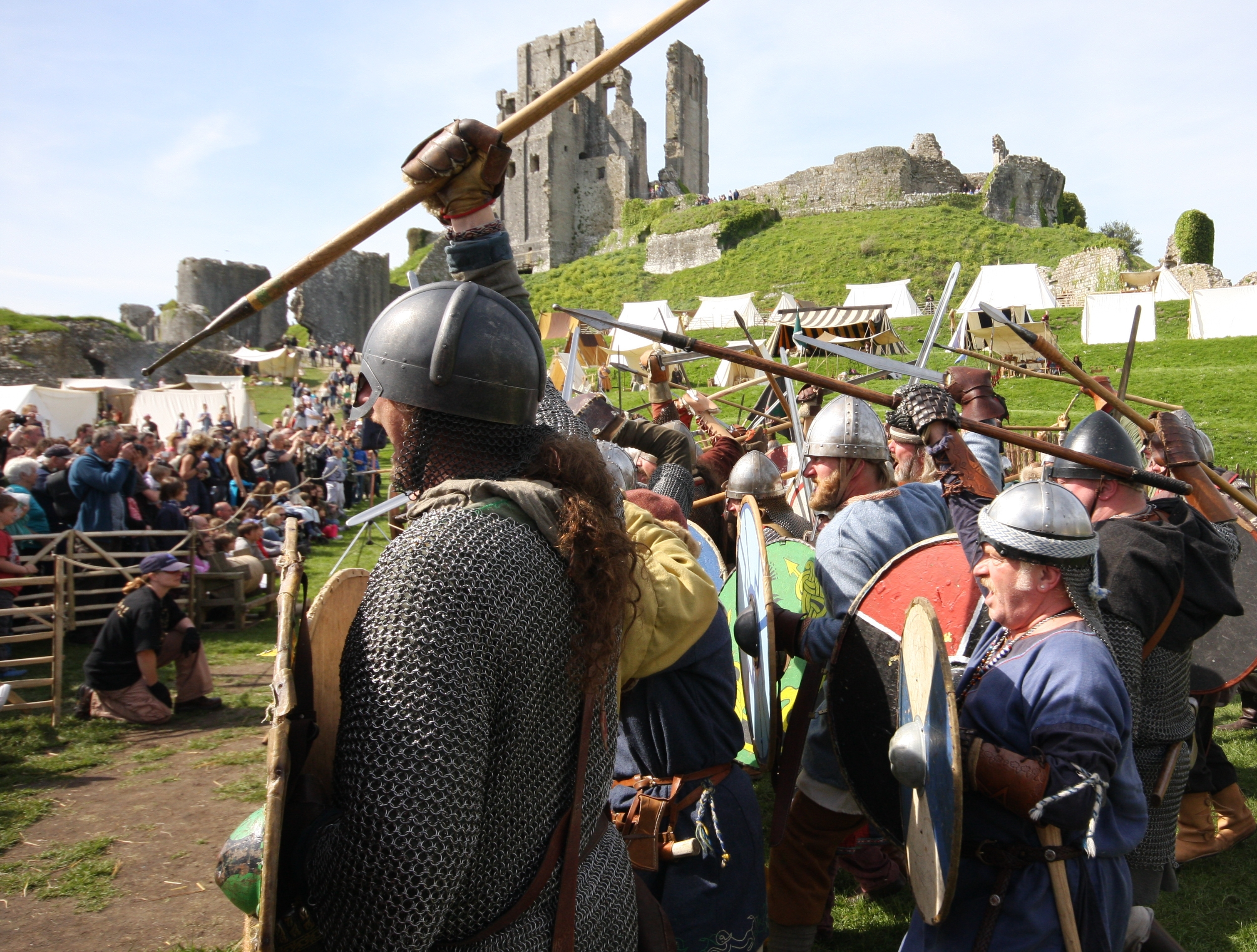 In the shieldwall, at Corfe Castle