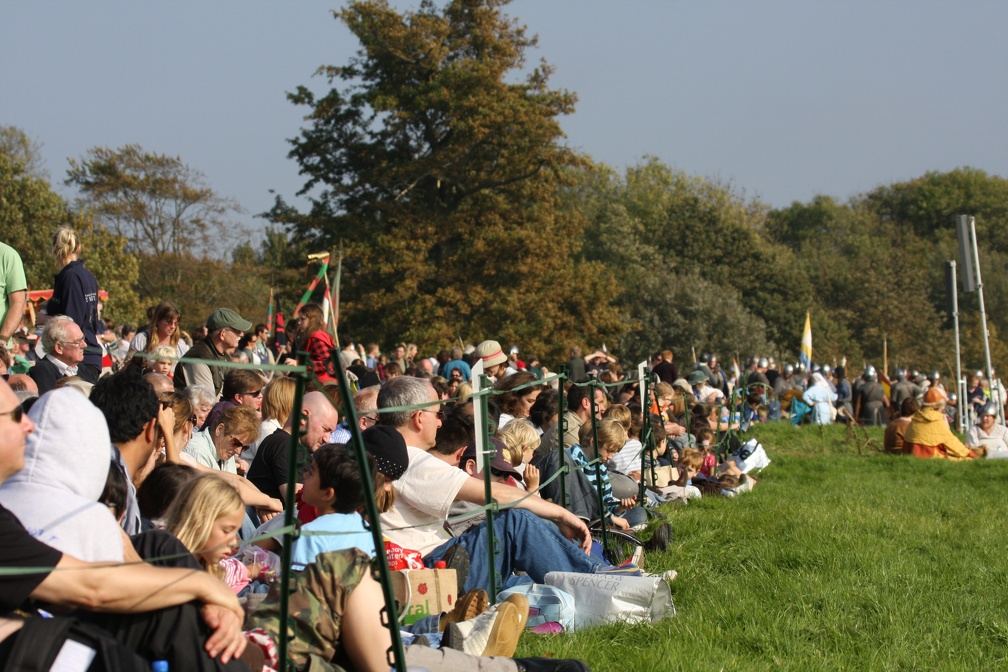 Some of the audience at the Battle of Hastings